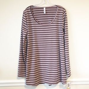 LuLaRoe Lynnae Long Sleeve Striped Top NWT